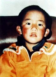 This is the last known photo of the Panchen Lama before he was abducted by Chinese authorities.